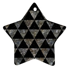 Triangle3 Black Marble & Gray Stone Star Ornament (two Sides)