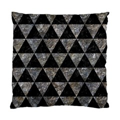 Triangle3 Black Marble & Gray Stone Standard Cushion Case (one Side)