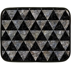 Triangle3 Black Marble & Gray Stone Double Sided Fleece Blanket (mini)