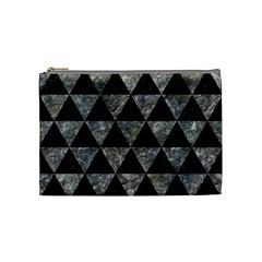 Triangle3 Black Marble & Gray Stone Cosmetic Bag (medium)