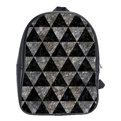 Triangle3 Black Marble & Gray Stone School Bag (large)