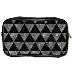 Triangle3 Black Marble & Gray Stone Toiletries Bags 2 Side