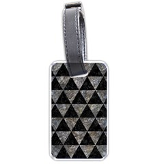 Triangle3 Black Marble & Gray Stone Luggage Tags (one Side)