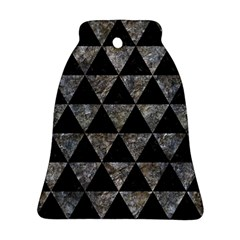 Triangle3 Black Marble & Gray Stone Ornament (bell)