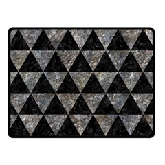 Triangle3 Black Marble & Gray Stone Double Sided Fleece Blanket (small)