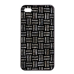 Woven1 Black Marble & Gray Stone Apple Iphone 4/4s Seamless Case (black)