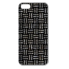 Woven1 Black Marble & Gray Stone Apple Seamless Iphone 5 Case (clear)
