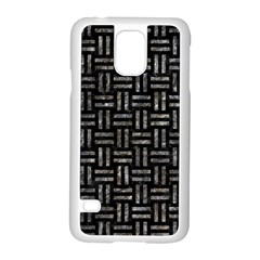 Woven1 Black Marble & Gray Stone Samsung Galaxy S5 Case (white)
