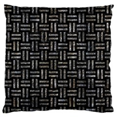 Woven1 Black Marble & Gray Stone Standard Flano Cushion Case (two Sides)