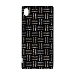 Woven1 Black Marble & Gray Stone Sony Xperia Z3+