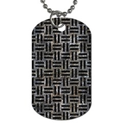 Woven1 Black Marble & Gray Stone (r) Dog Tag (two Sides)