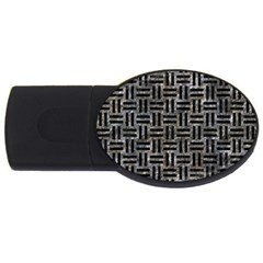 Woven1 Black Marble & Gray Stone (r) Usb Flash Drive Oval (2 Gb)