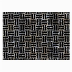 Woven1 Black Marble & Gray Stone (r) Large Glasses Cloth