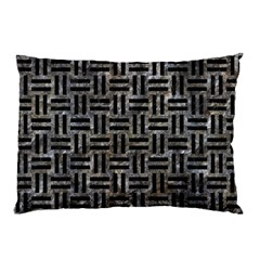 Woven1 Black Marble & Gray Stone (r) Pillow Case (two Sides)
