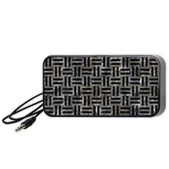Woven1 Black Marble & Gray Stone (r) Portable Speaker