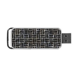 Woven1 Black Marble & Gray Stone (r) Portable Usb Flash (one Side)