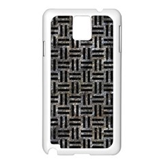 Woven1 Black Marble & Gray Stone (r) Samsung Galaxy Note 3 N9005 Case (white)