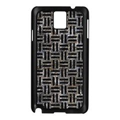 Woven1 Black Marble & Gray Stone (r) Samsung Galaxy Note 3 N9005 Case (black)