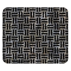 Woven1 Black Marble & Gray Stone (r) Double Sided Flano Blanket (small)