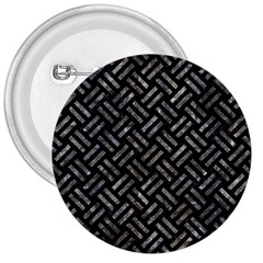 Woven2 Black Marble & Gray Stone 3  Buttons