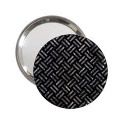 Woven2 Black Marble & Gray Stone 2 25  Handbag Mirrors