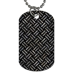 Woven2 Black Marble & Gray Stone Dog Tag (two Sides)