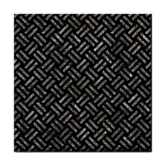 Woven2 Black Marble & Gray Stone Face Towel