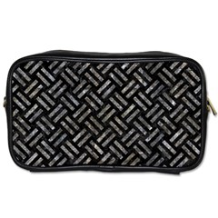 Woven2 Black Marble & Gray Stone Toiletries Bags 2 Side