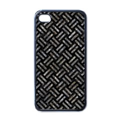 Woven2 Black Marble & Gray Stone Apple Iphone 4 Case (black)