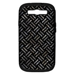Woven2 Black Marble & Gray Stone Samsung Galaxy S Iii Hardshell Case (pc+silicone)