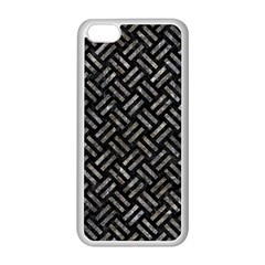 Woven2 Black Marble & Gray Stone Apple Iphone 5c Seamless Case (white)