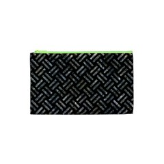 Woven2 Black Marble & Gray Stone Cosmetic Bag (xs)