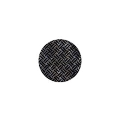 Woven2 Black Marble & Gray Stone (r) 1  Mini Buttons