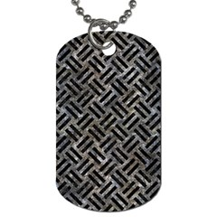 Woven2 Black Marble & Gray Stone (r) Dog Tag (two Sides)