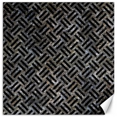 Woven2 Black Marble & Gray Stone (r) Canvas 12  X 12
