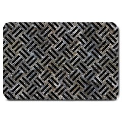 Woven2 Black Marble & Gray Stone (r) Large Doormat