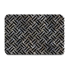 Woven2 Black Marble & Gray Stone (r) Plate Mats