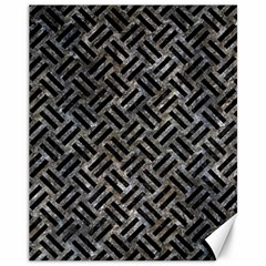 Woven2 Black Marble & Gray Stone (r) Canvas 11  X 14