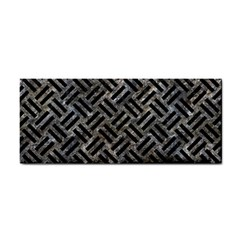 Woven2 Black Marble & Gray Stone (r) Cosmetic Storage Cases