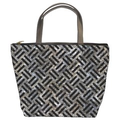 Woven2 Black Marble & Gray Stone (r) Bucket Bags
