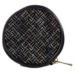 Woven2 Black Marble & Gray Stone (r) Mini Makeup Bags