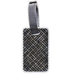Woven2 Black Marble & Gray Stone (r) Luggage Tags (one Side)