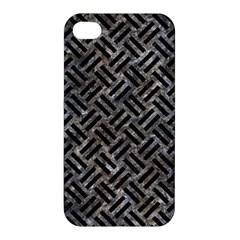 Woven2 Black Marble & Gray Stone (r) Apple Iphone 4/4s Hardshell Case