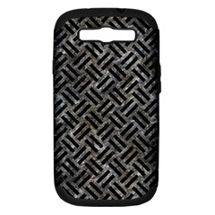 Woven2 Black Marble & Gray Stone (r) Samsung Galaxy S Iii Hardshell Case (pc+silicone)