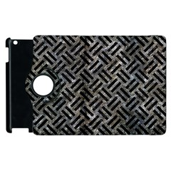 Woven2 Black Marble & Gray Stone (r) Apple Ipad 3/4 Flip 360 Case