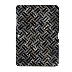 Woven2 Black Marble & Gray Stone (r) Samsung Galaxy Tab 2 (10 1 ) P5100 Hardshell Case