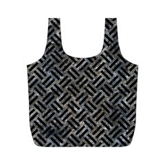 Woven2 Black Marble & Gray Stone (r) Full Print Recycle Bags (m)