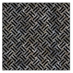 Woven2 Black Marble & Gray Stone (r) Large Satin Scarf (square)