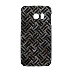 Woven2 Black Marble & Gray Stone (r) Galaxy S6 Edge