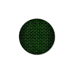 Brick1 Black Marble & Green Brushed Metal Golf Ball Marker
